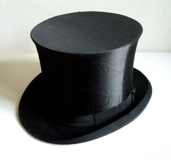 21369019b22 French Silk Top Hat Foldable Collapsible Black Topper Opera Victorian  Steampunk Maison Marguery Chapellerie Parisienne Made in Paris