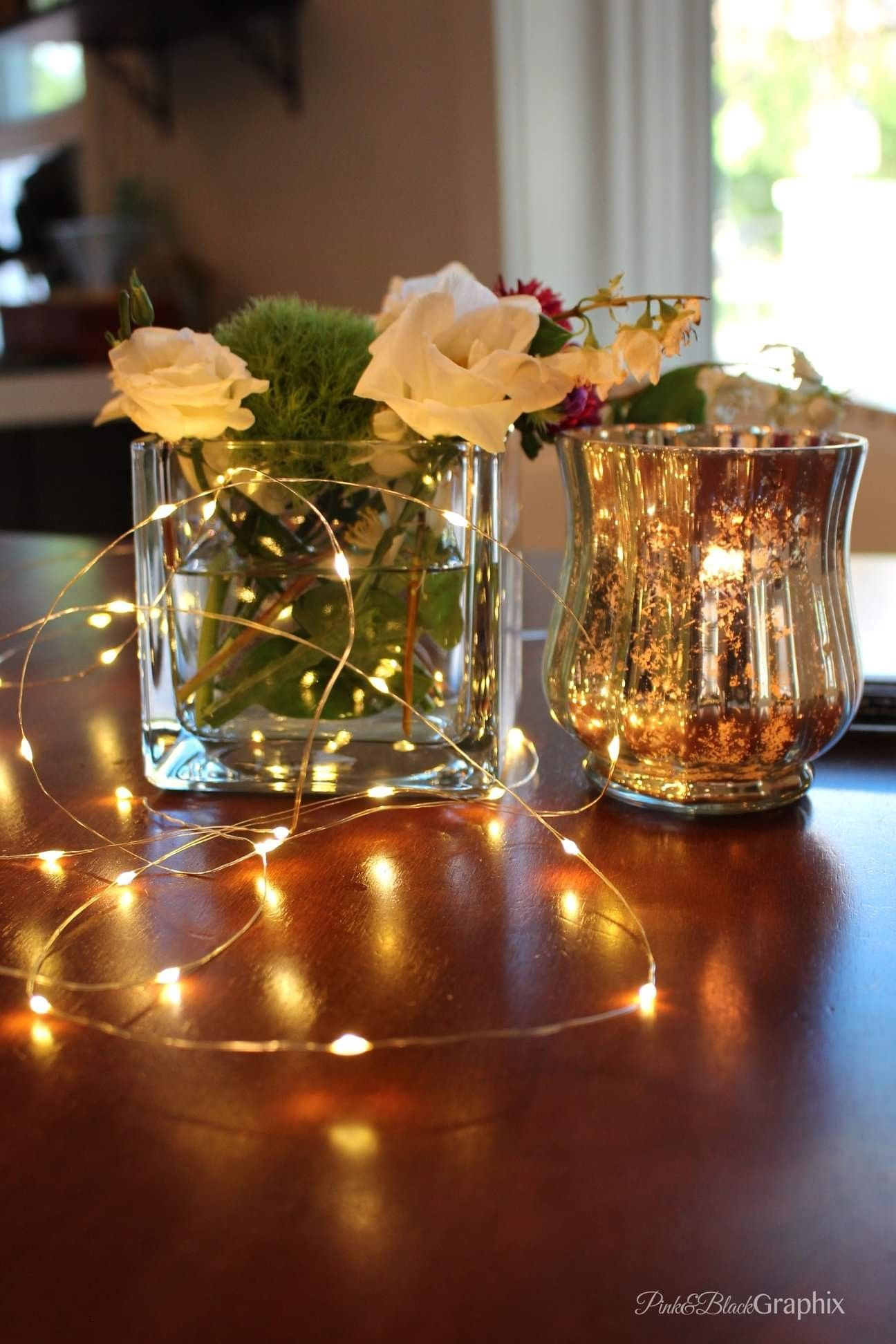 Cheap Easy Simple Diy Wedding Centerpieces Fairy Lights