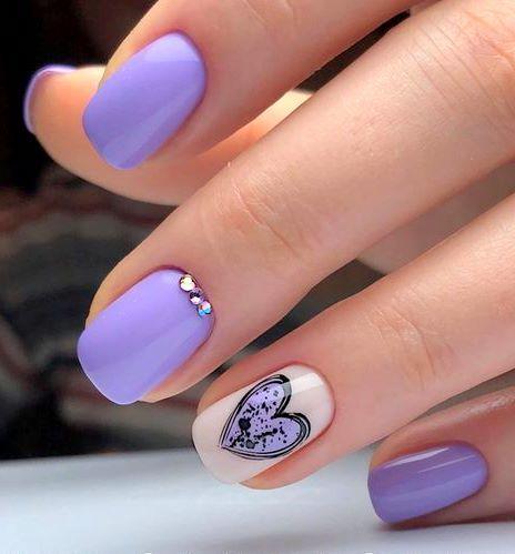 pinpatricia rodriguez on beauty  nails  violet nails