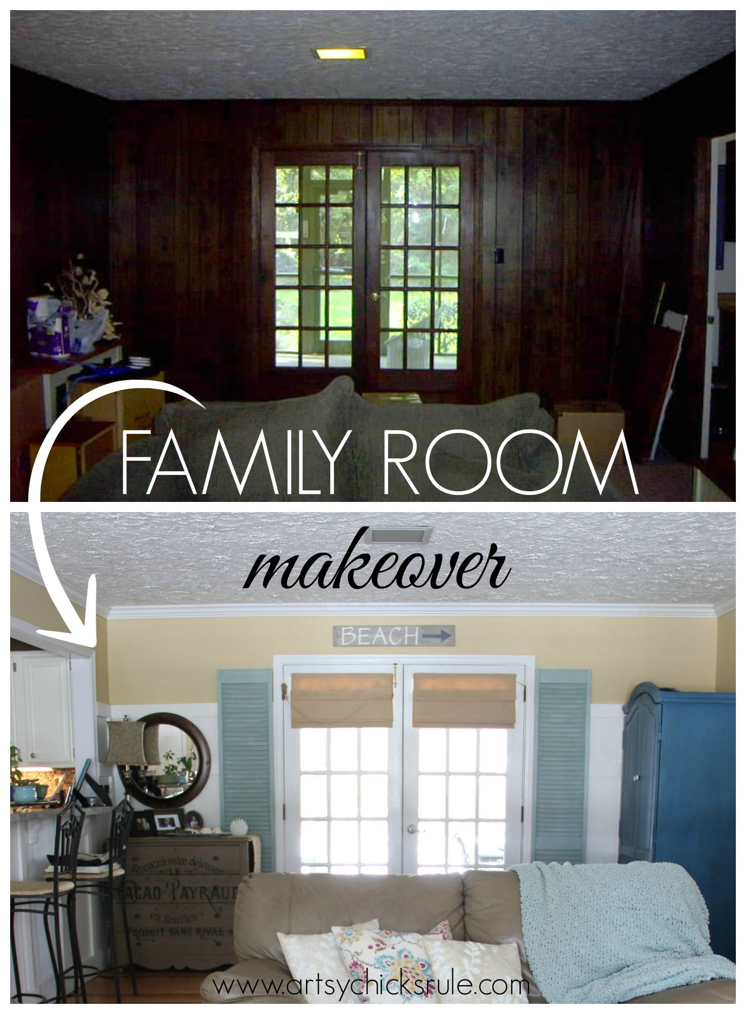 Family Room Makeover Before After Family Room Family Room