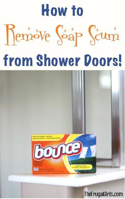 How To Remove Soap Scum From Shower Doors From
