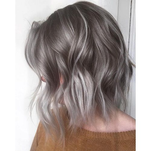 Image Result For Grey Balayage Short Hair Ombreshorthair Hair Styles Grey Ombre Hair Ombre Hair