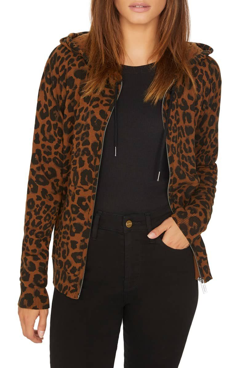 18ef4a9fe93666 Live out loud in a zip-front hoodie that rocks a leopard print ...