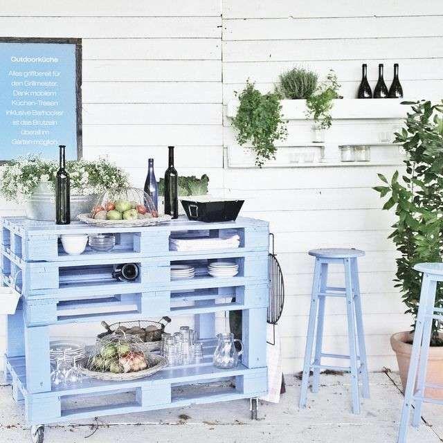 arredare giardino con i bancali idee arredamento
