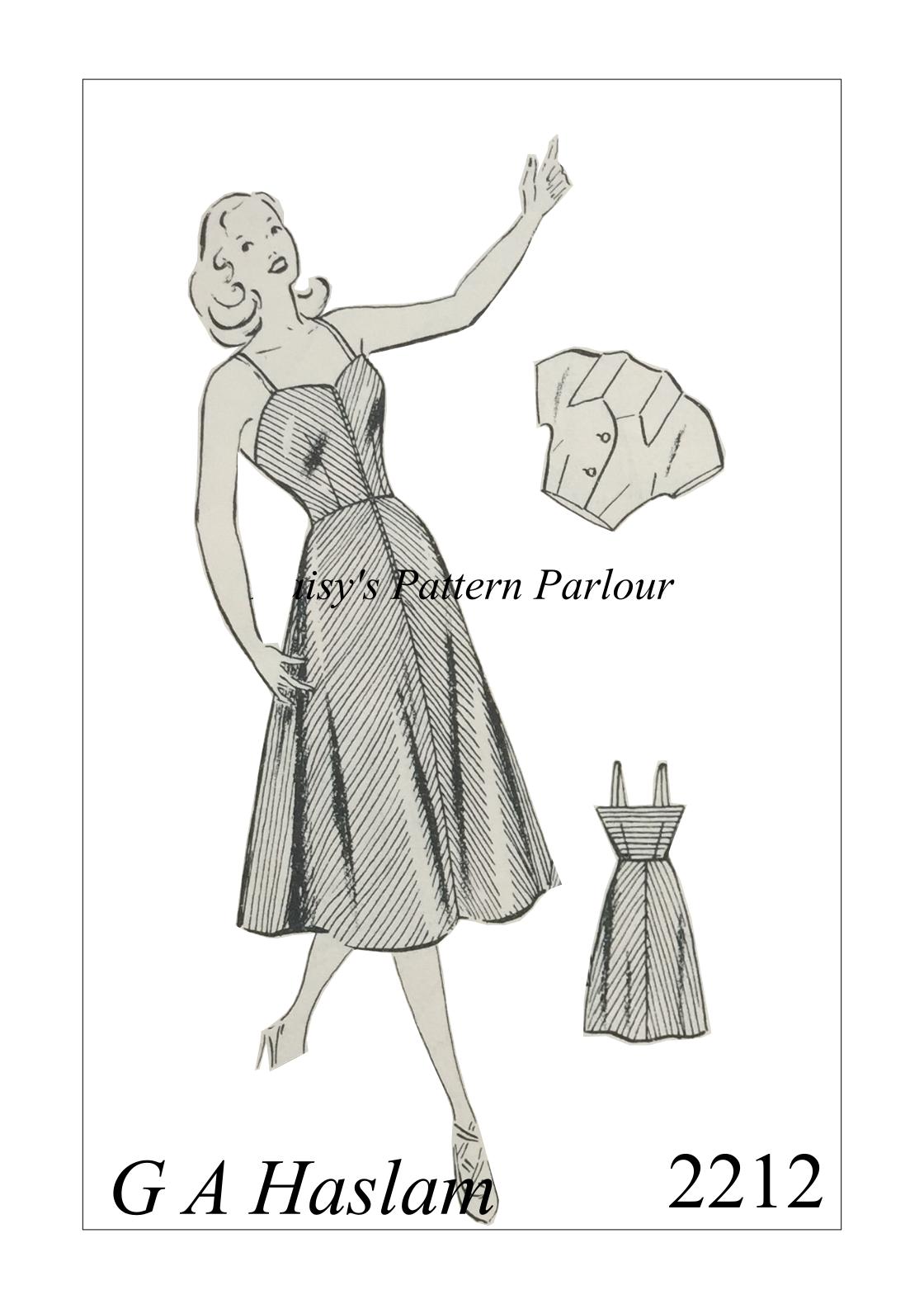 1950s Vintage Sewing Pattern Rockabilly Sweetheart Bolero Beach ...