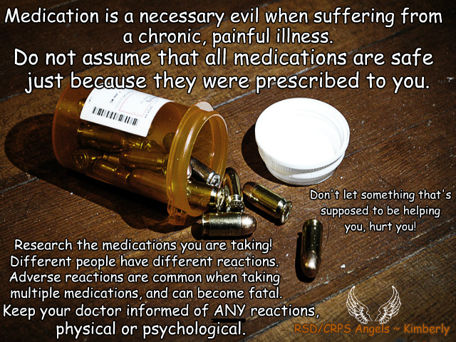 #medication #sideeffects #rsd #crps #rsdawareness #crpsawareness #angels #kimberly #theangelsproject #pain #illness #chronic #fibro #chronicpain #chronicillness #invisibleillness #awareness #awarenessmatters #spoonie #spoonielife #fibrolife #awarenessposter #youmatter