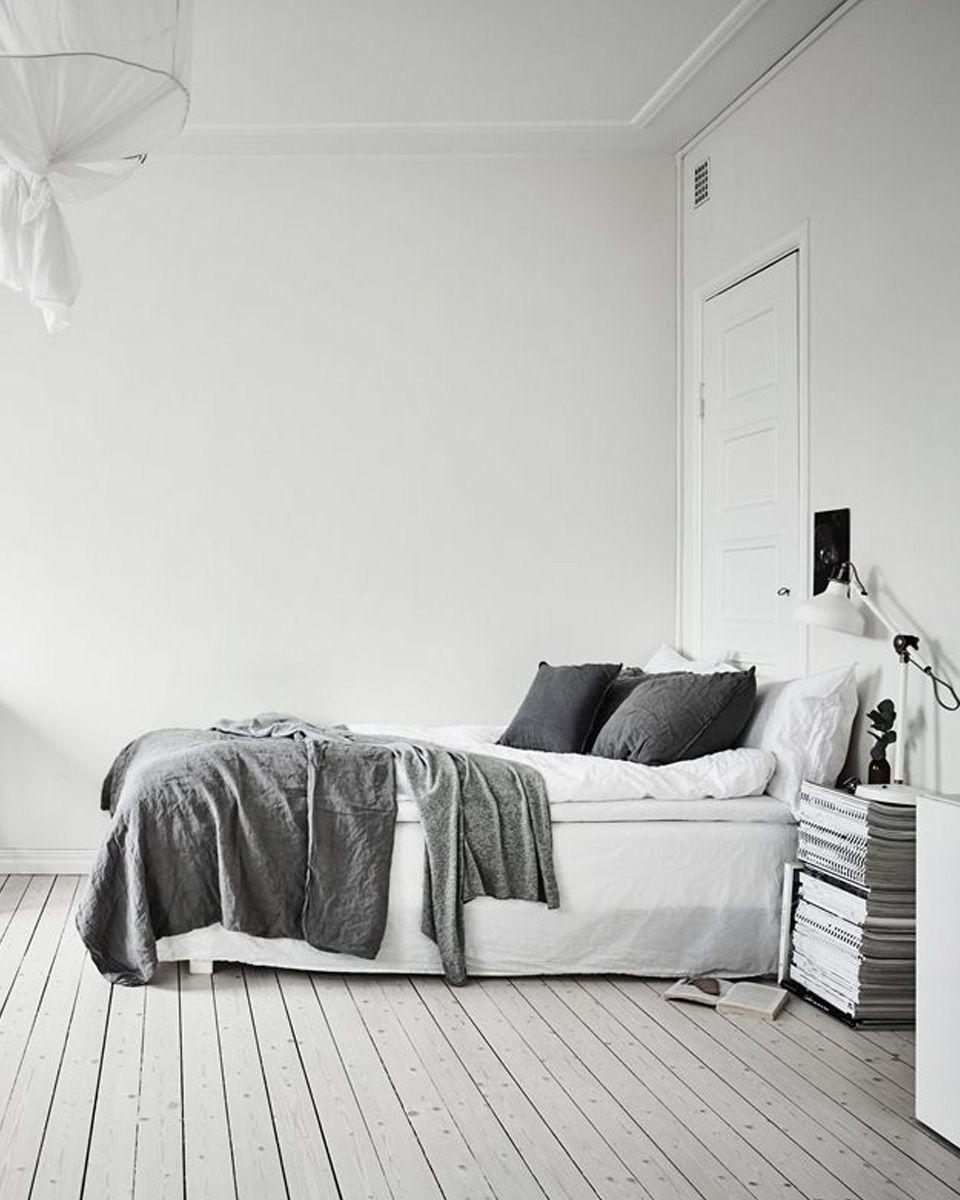deco studio noir blanc chambre en 17  Déco chambre noir et