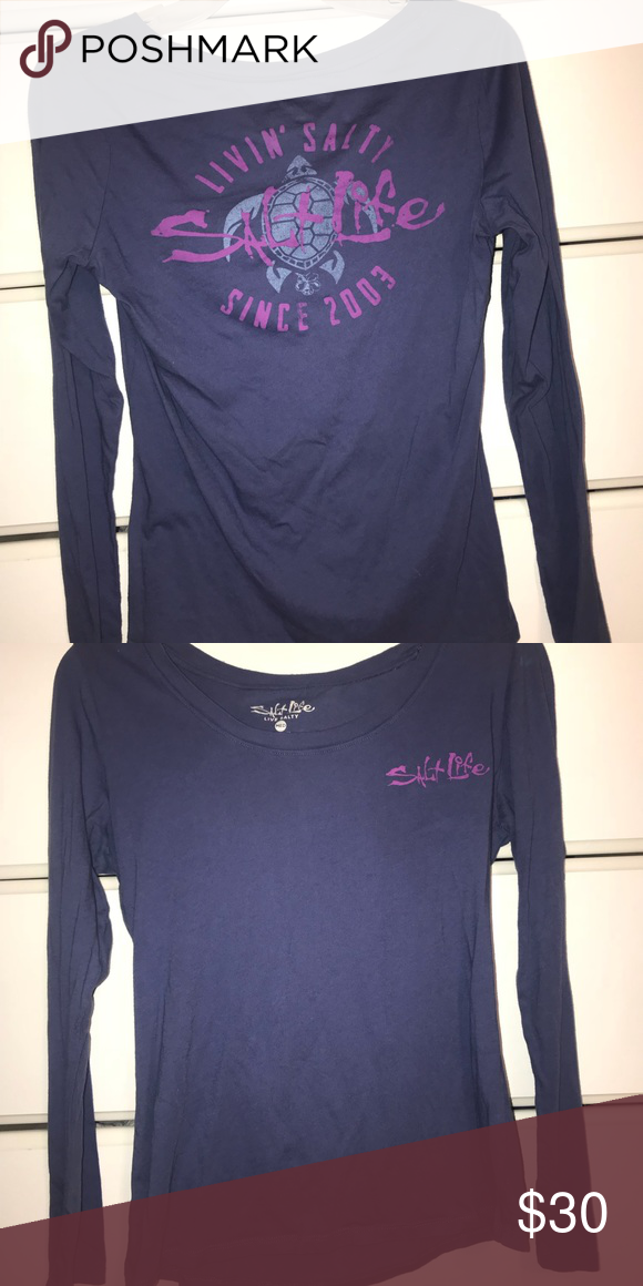 8b5c6d7f541 Salt Life women s long sleeve shirt The only way I can think to describe  this color is a dusty violet. This shirt has never been worn.