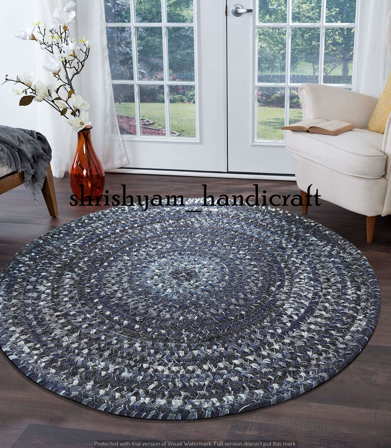 210 Cm Round Rug Carpet Handmade Rag Rug Indian Hand Braided Bohemian Colorful Cotton Chindi Area Rug Cotton Area Rugs Floor Rug Circle Rug In 2020 Floor Area Rugs Floor Rugs Round Rugs