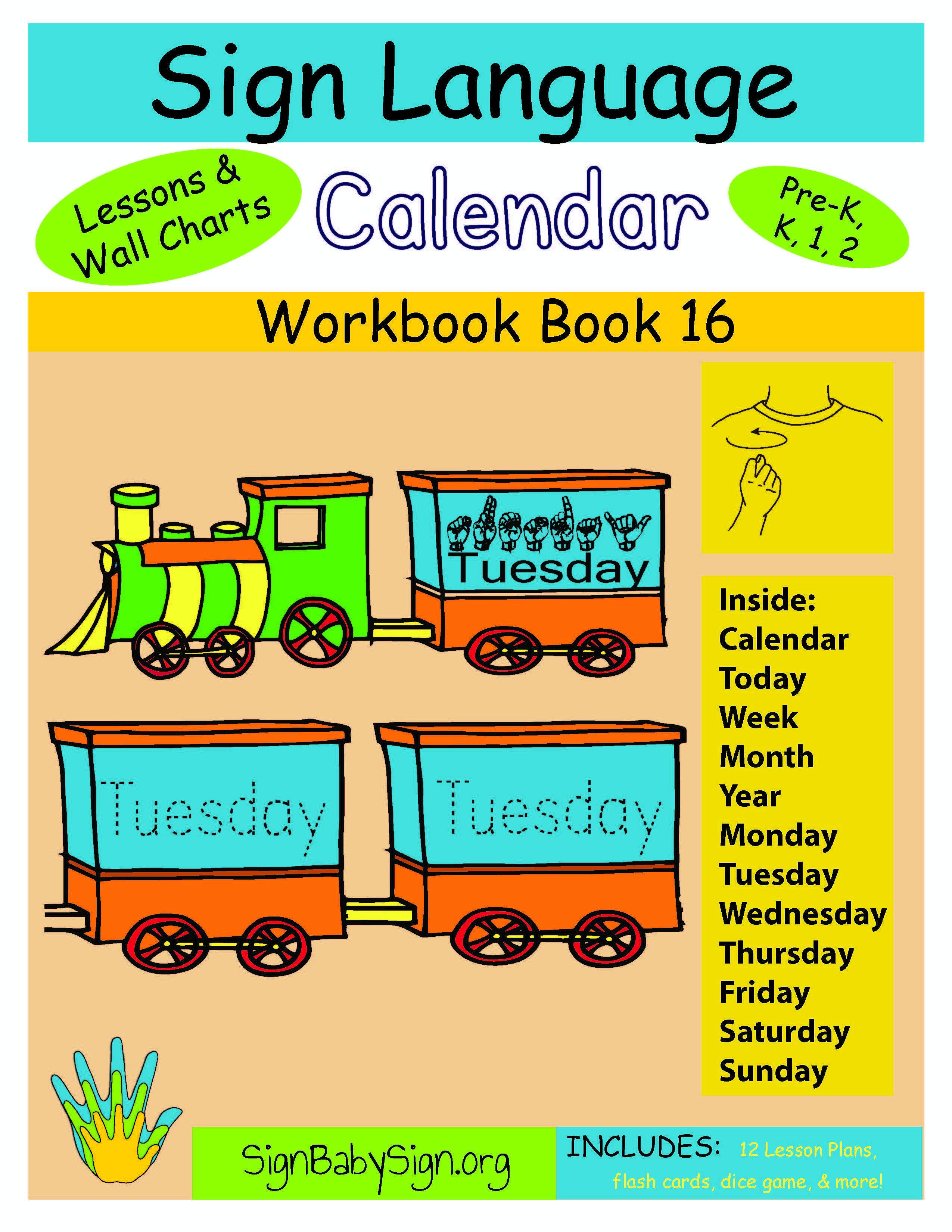 Lesson Plan Book 16 Calendar