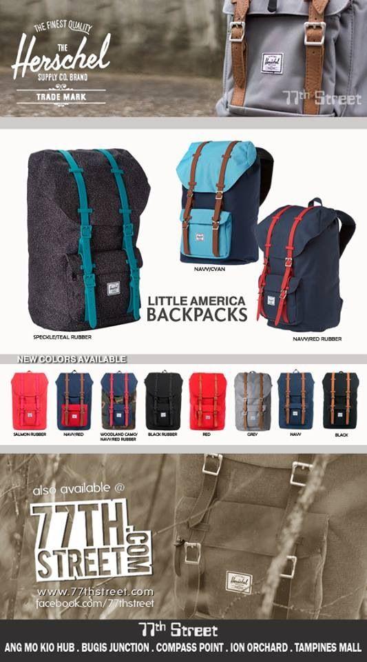 Latest Herschel Bags ! Best Buy at 77th Street Outlets  #bugisjunction #compasspoint  #tampinesmall #angmokiohub  #ionorchard #herschelsupply #welltravelled @77thstreetsg @elimchew77thstreet #bags