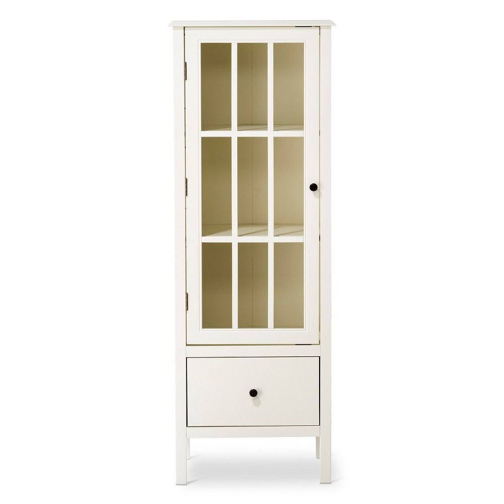 Windham Narrow Library Cabinet With Drawer Shell White Threshold