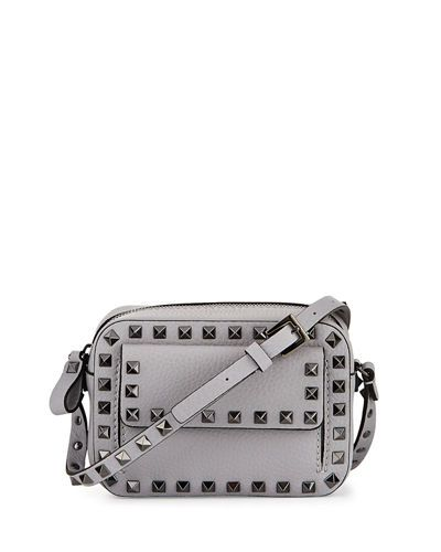 fbf3cae02 Valentino Garavani Rockstud Small Flap Pocket Camera Crossbody Bag ...