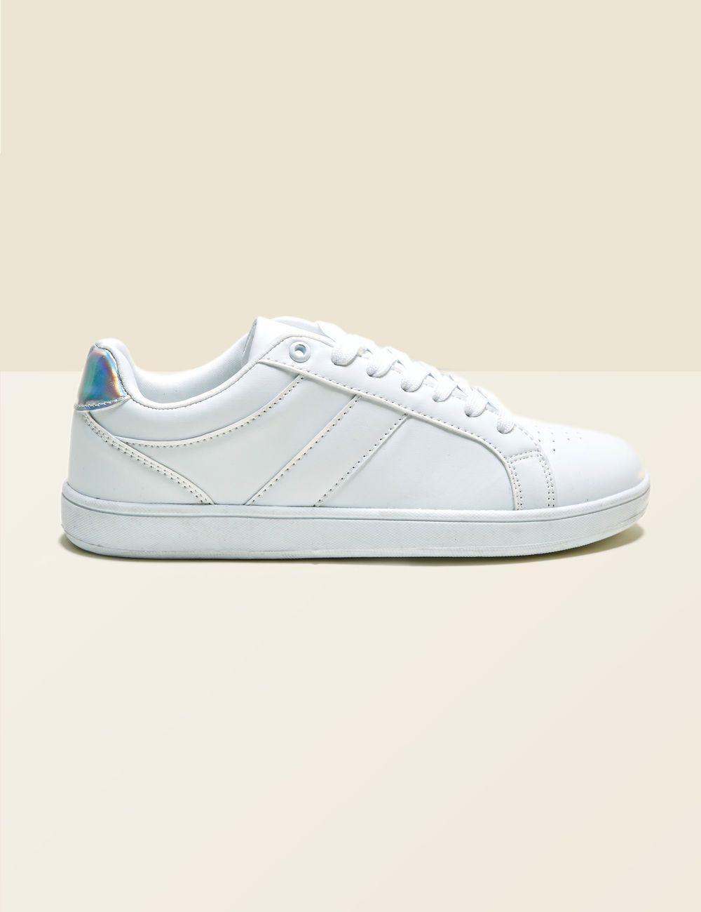 Détail • Sneakers Femme Blanches JennyferBaskets Tennis Argenté Tlc1JFK