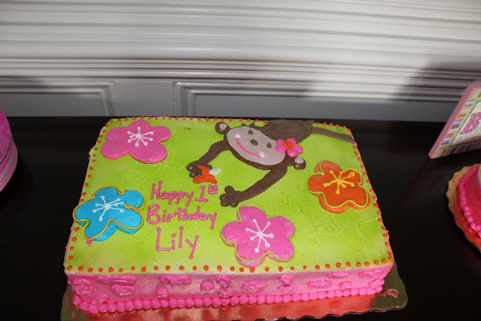 All things thornton lilys 1st birthdaymonkey theme
