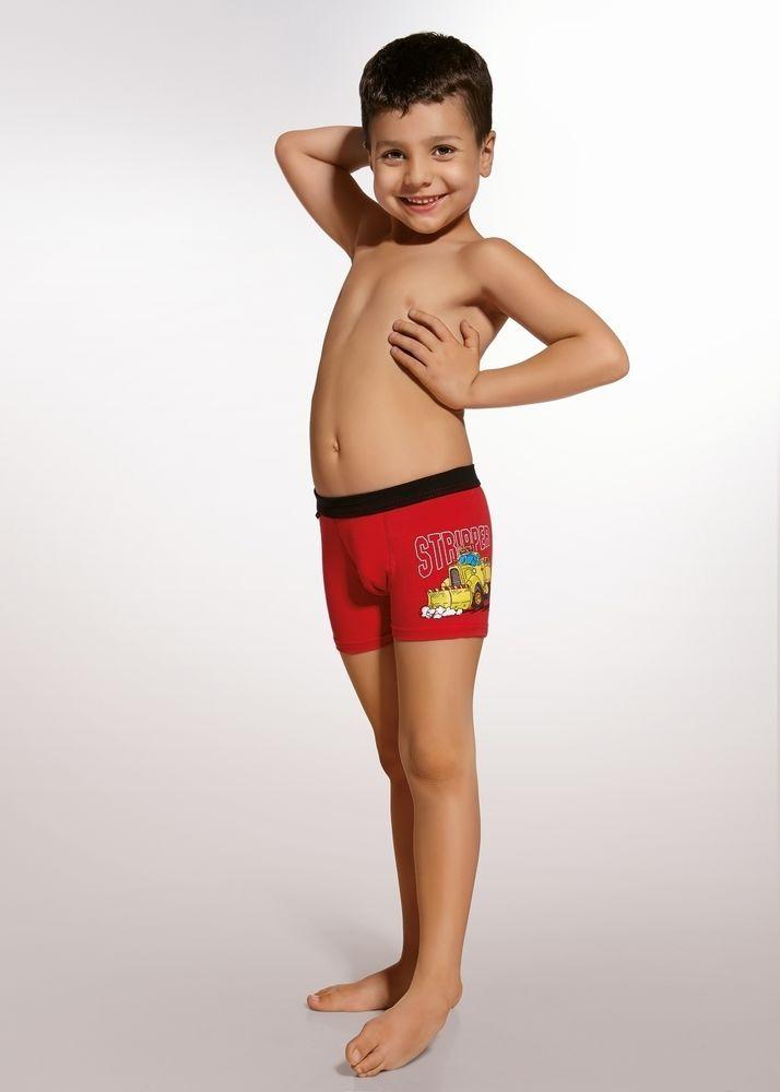c8423036d4c Super Boxer rouge enfant garçon slip caleçon Camion Stripper Cornette ZS61
