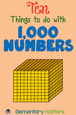 Ten Things To Do With 1000 Numbers Math Pinterest Math