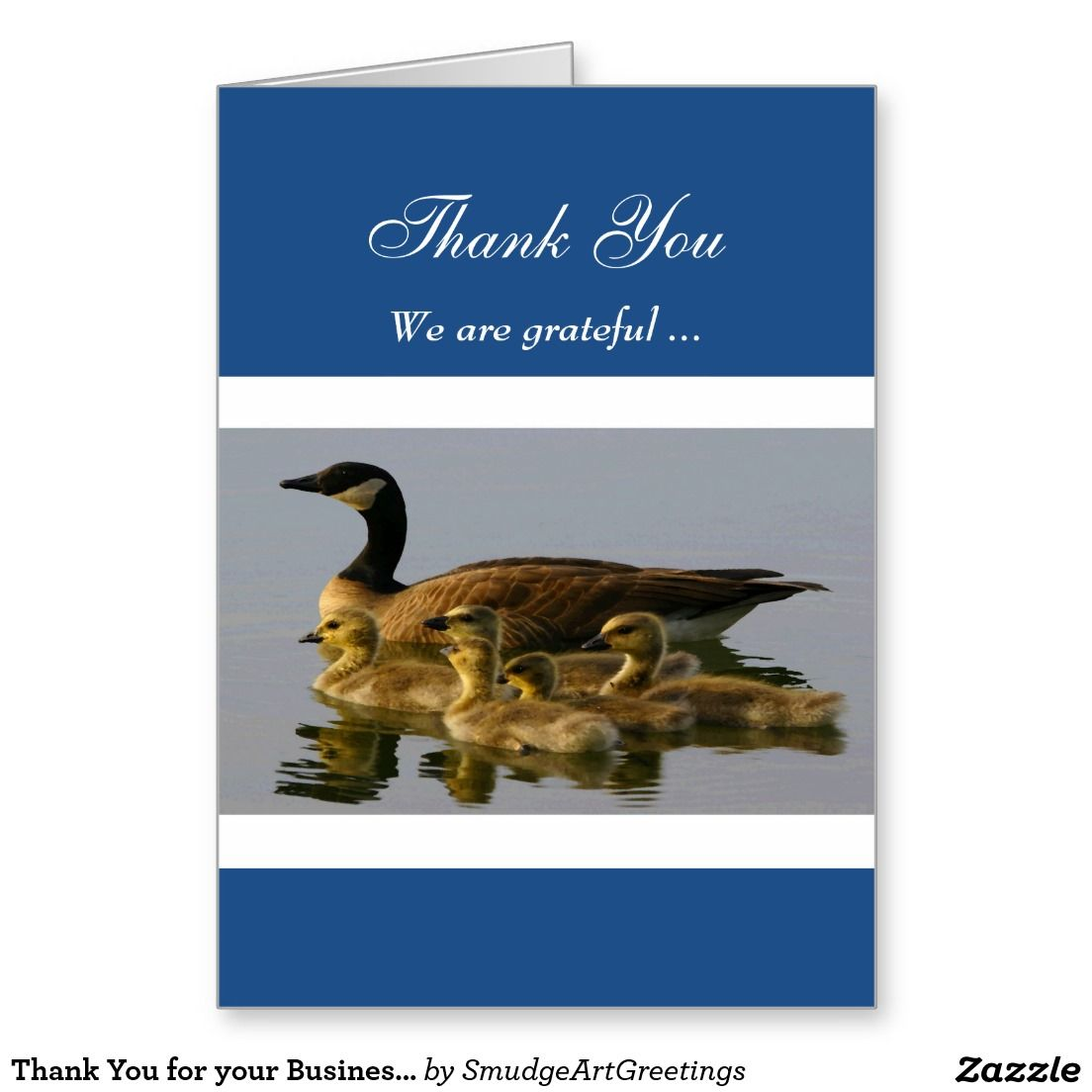 Thank you for your business canada goosechicks greeting card thank you for your business canada goosechicks greeting card reheart Images