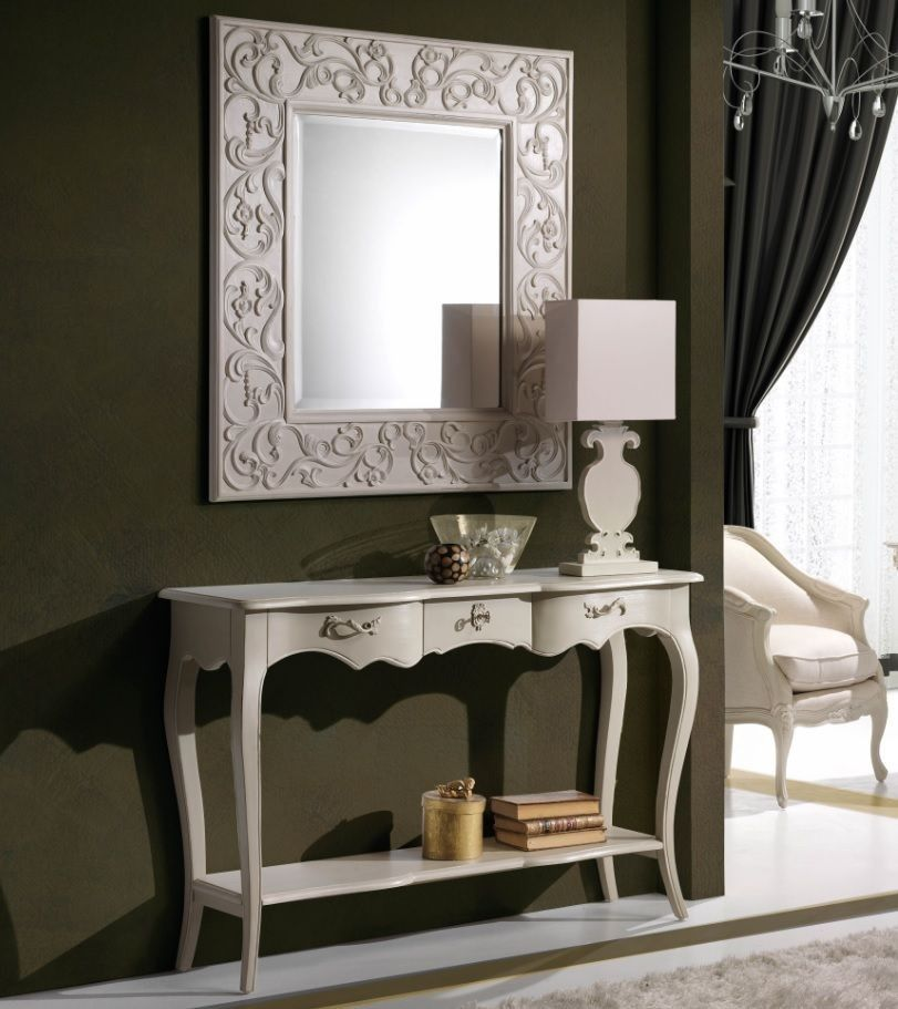Consola vintage blanca bangkok hall consoles and foyers for Consolas antiguas muebles