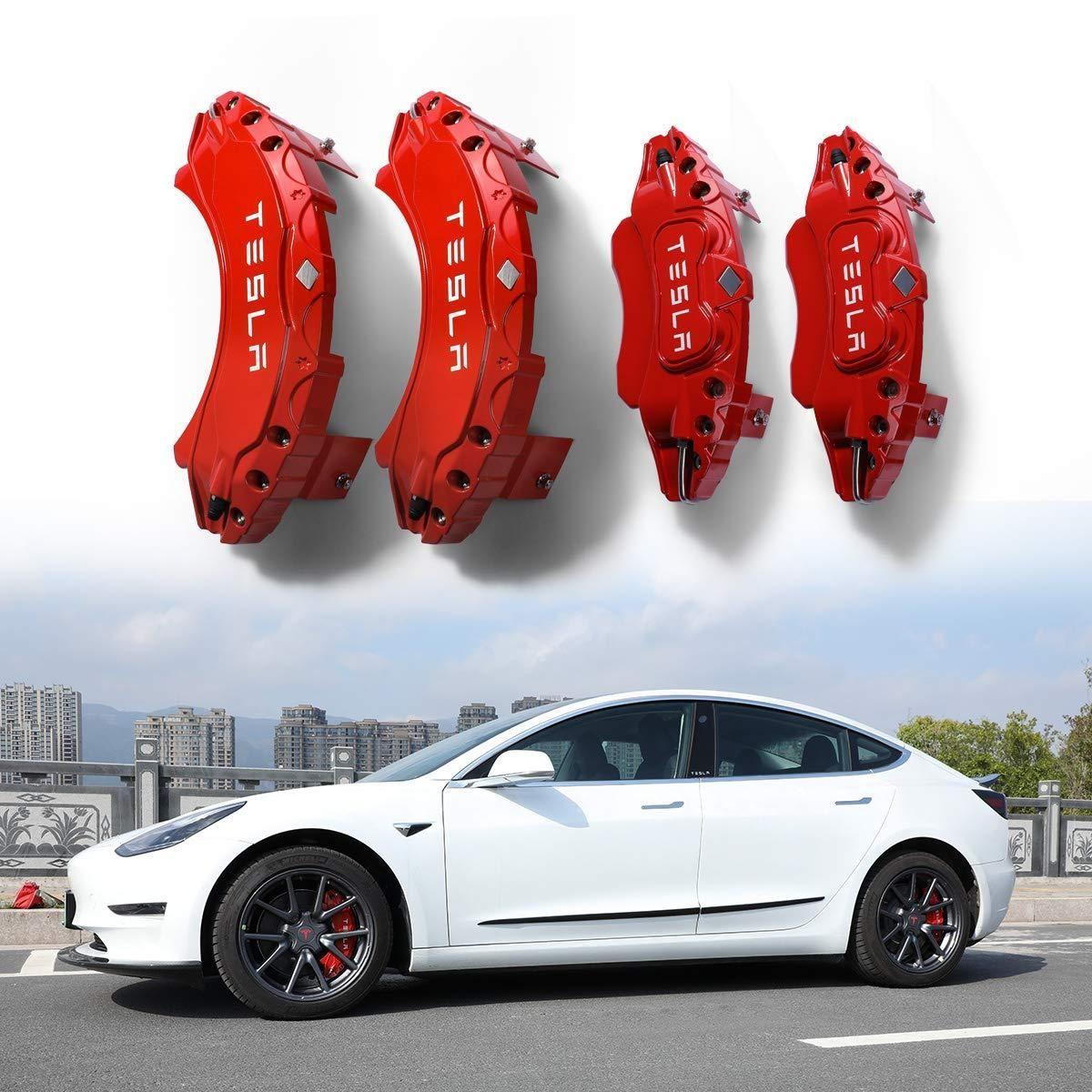 Red Caliper Covers Tesla Model 3 2017 2020 Tesla Model Tesla Calipers