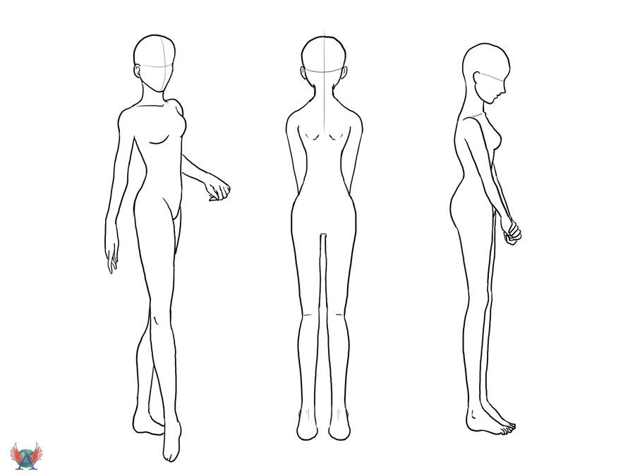 Female Full Body Drawing Drawing Base Drawings Body Base Drawing