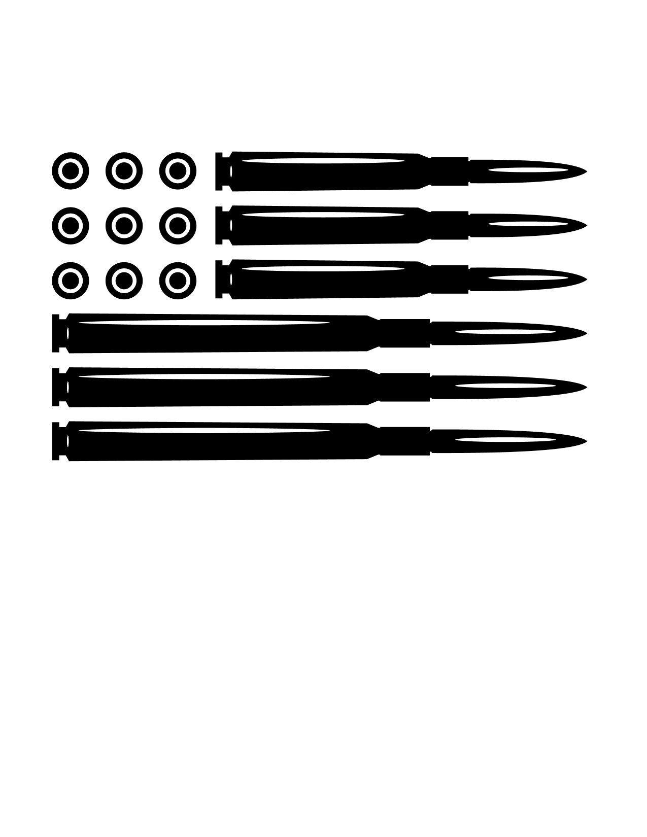 Bullet flag vinyl decal #gunsammo
