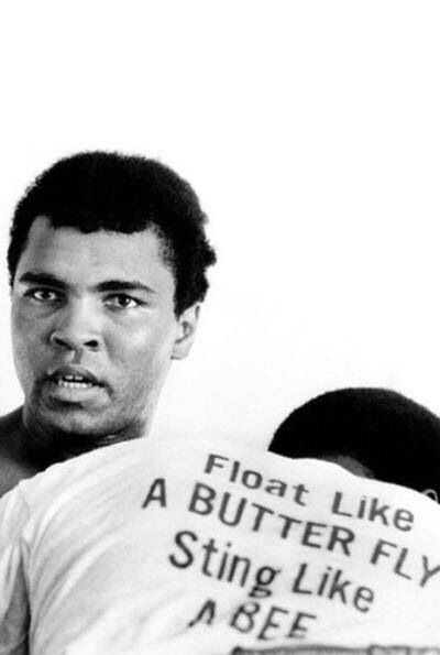 Muhammad Ali in training.