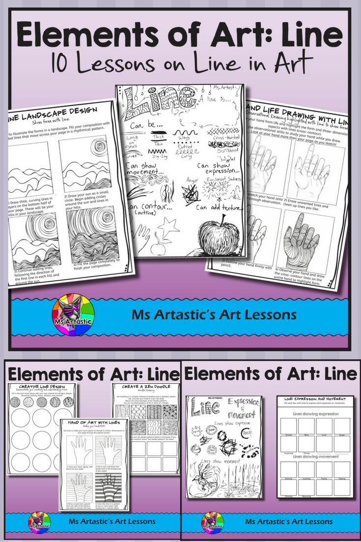Elements Of Art Line Art Lessons Elements Of Art Art Lessons