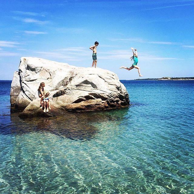 Swimming And Boulder Jumping At Carters Beach Port Mouton Nova