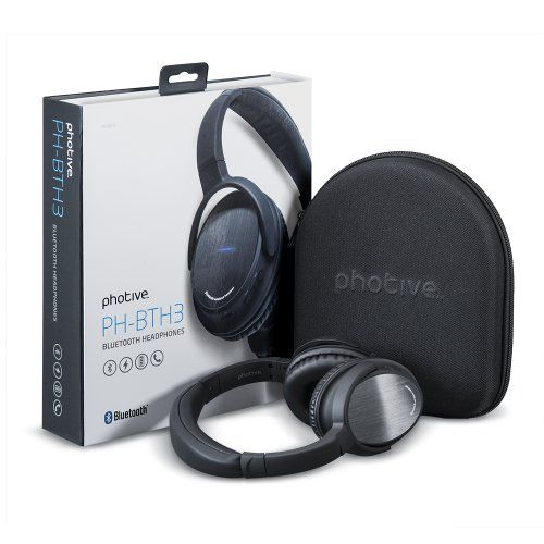 foto de Photive BTH3 Over-The-Ear Wireless Bluetooth Headphones with Built ...