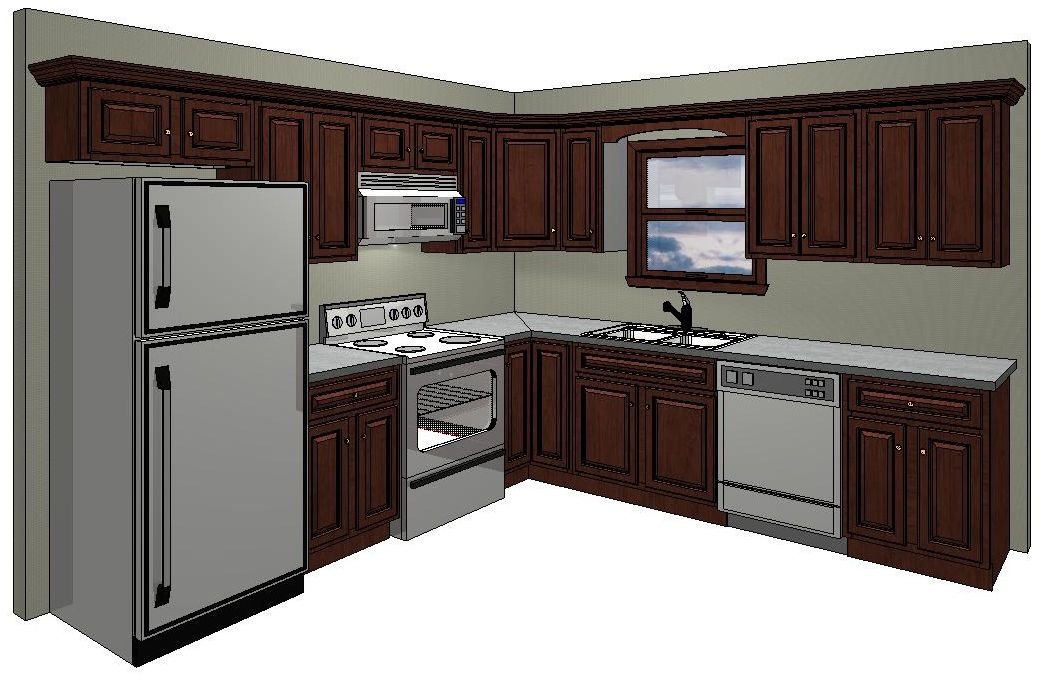 10x10 kitchen layout in the standard 10 x 10 kitchen for Kitchenette layout