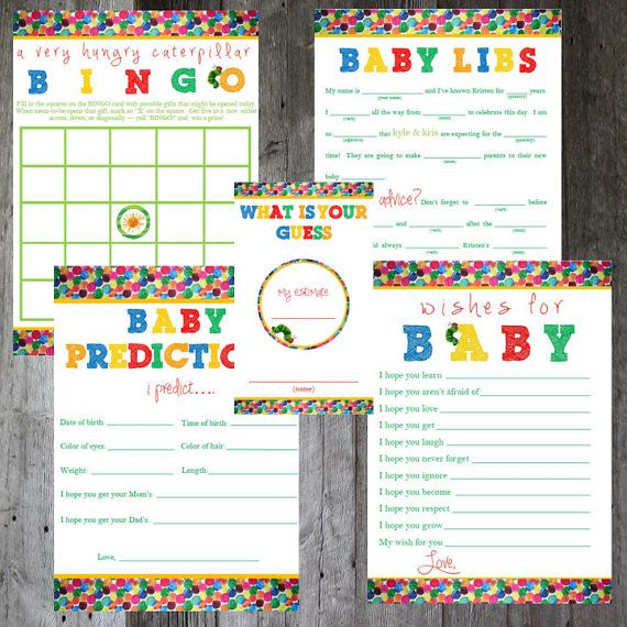 the very hungry caterpillar eric carle by pencilmouthdesigns, Baby shower invitations