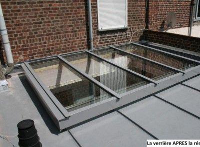 Verri re sur toit terrasse fenetre toit pinterest la for Fenetre de toit terrasse