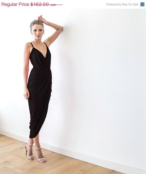 Hey, I found this really awesome Etsy listing at https://www.etsy.com/listing/216116670/wrap-maxi-black-sexy-dress