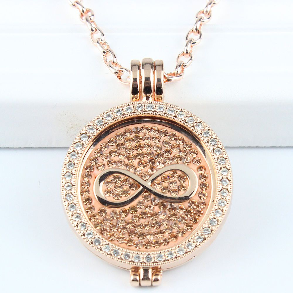 33mm rose gold interchangeable coin mi pendant necklace coin 33mm rose gold interchangeable coin mi pendant necklace coin holder necklace unbranded pendant aloadofball Choice Image