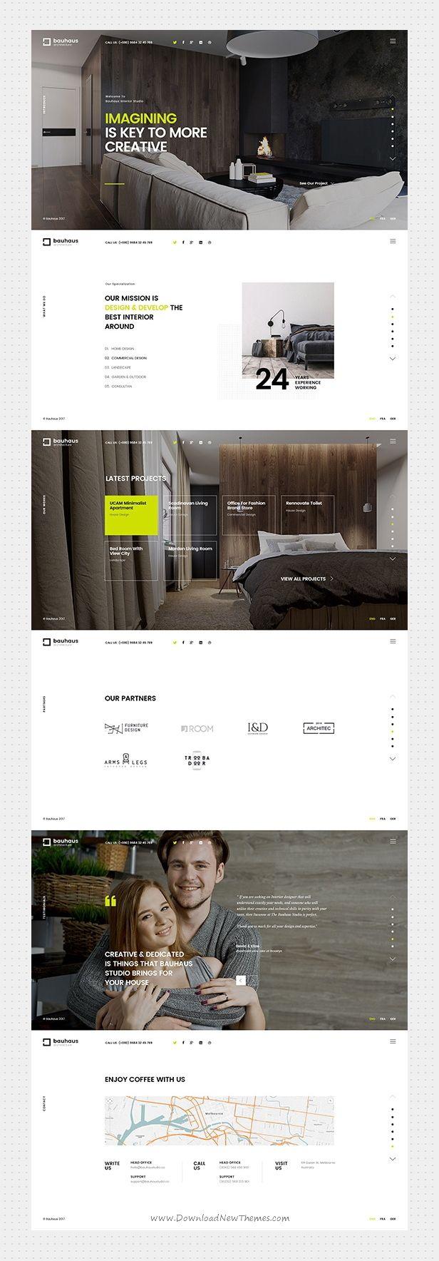 Bauhaus Architecture Interior Template In 2020 Web Design Tips Bauhaus Architecture Web Layout Design