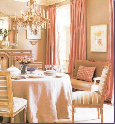 The colors are great for dining room just off entry with the orange tiles.