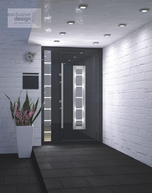 Super Aluminium Schüco ADS 70.HI Haustür, Eingangstür - Anthrazit +  KV12
