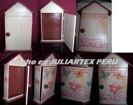 Paso a paso de una caja portallaves pintado a mano en JuliartexPerú