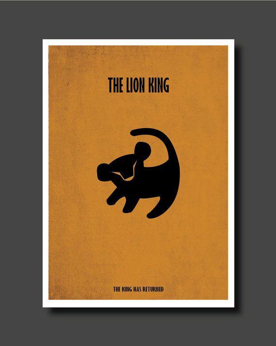 Roi lion affiche minimaliste affiche de film par for Affiche minimaliste