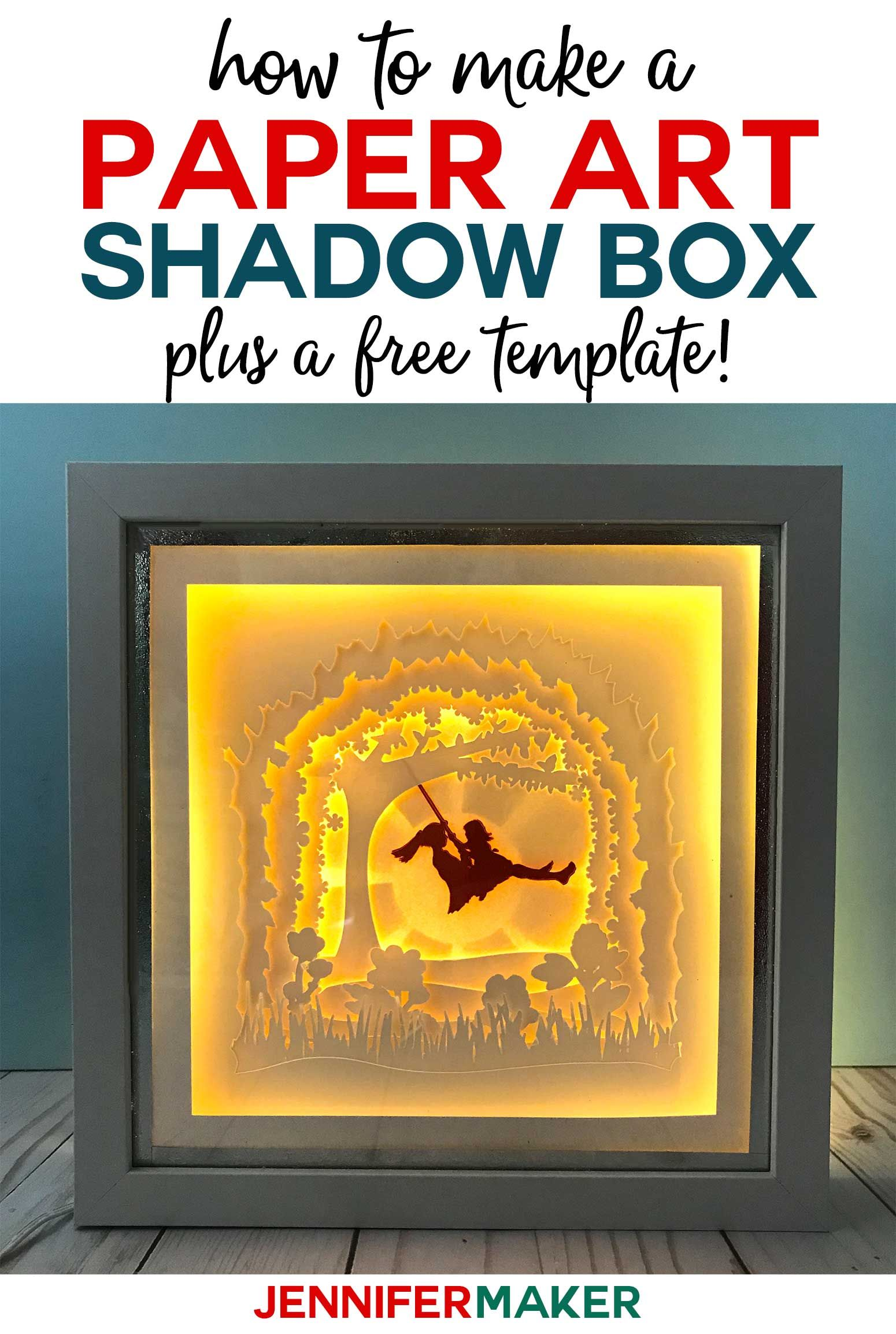 Shadow Box Paper Art Template to Customize Shadow box