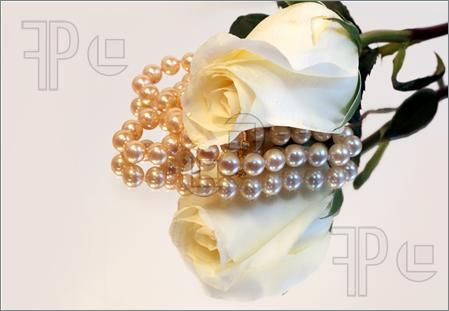 White Rose & Pearls Reflection