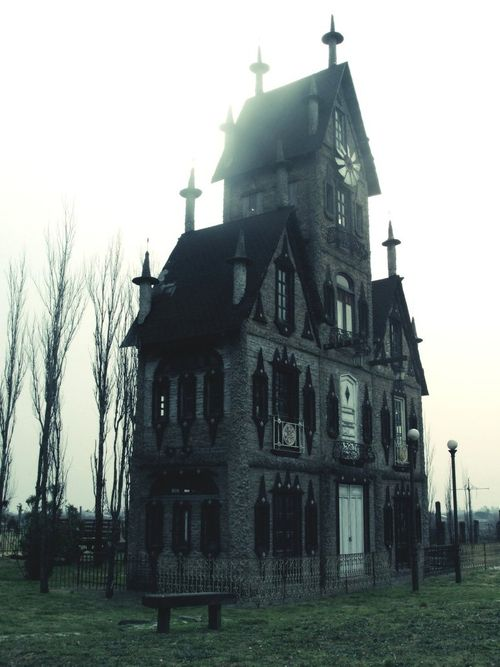 """""""Creepy House"""" by Fernando Branstock Going with the older, creepy idea, this picture displays my liking for straight edges and sharp points in design. I think it's very appealing to the eye."""