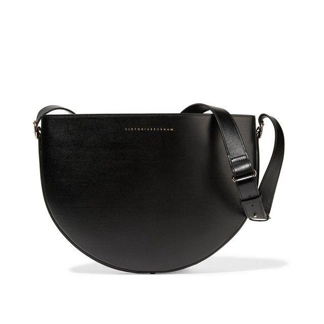 Victoria Beckham Malf Moon Leather Shoulder Bag