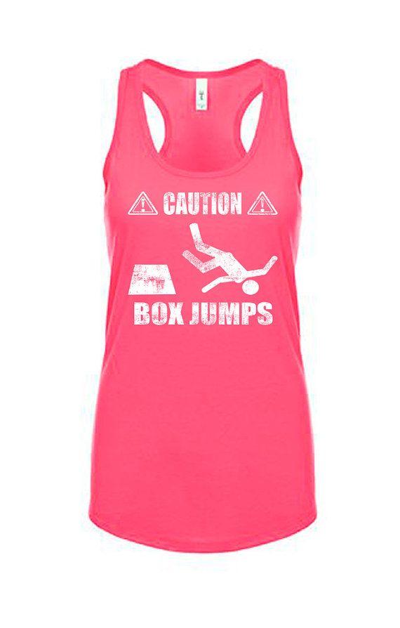 Caution Box Jumps Workout Tank Workout Clothes Funny Fitness Etsy Workout Clothes Funny Workout Clothes Box Jump Workout