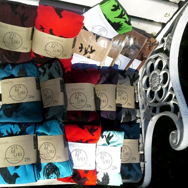 Tämmöstä vein tänään kaupalle. #uutta  This is #freshstuff from our shop @remakeekodesign #hakaniemi #helsinki #finland #available #today #remake  #vilmuri #vilmuribyvilma #upcycle #illustrated #tights #stockings #pantyhose #hosiery #nylons #leggings #sukkahousut #ecodesign #upcycledfashion #ecofashion #color #colour #colorful by vilmuribyvilma