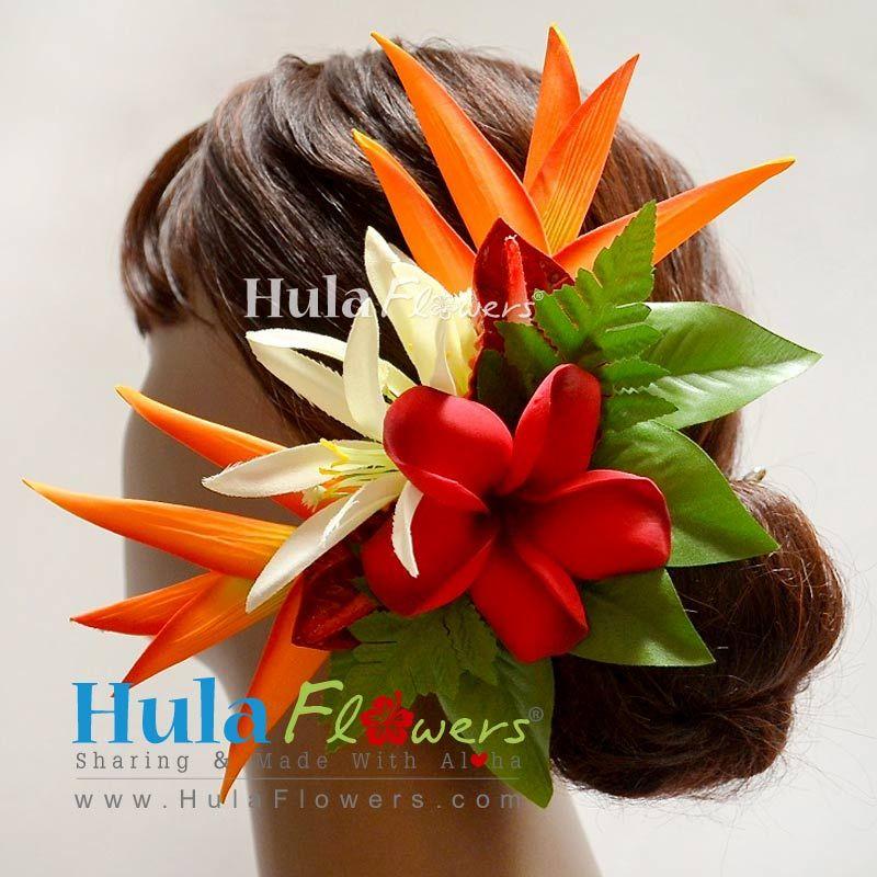 Hawaiian Wedding Hairstyles: Tropical Hawaiian Wedding Flowers Hair Clip