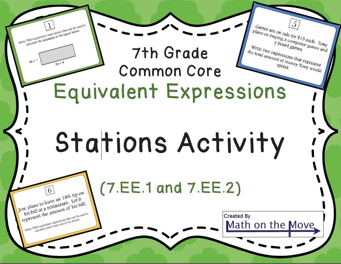 Expressions Stations Activity 7 Ee 1 And 7 Ee 2 Algebraic Expressions Math Expressions Math [ 898 x 1158 Pixel ]