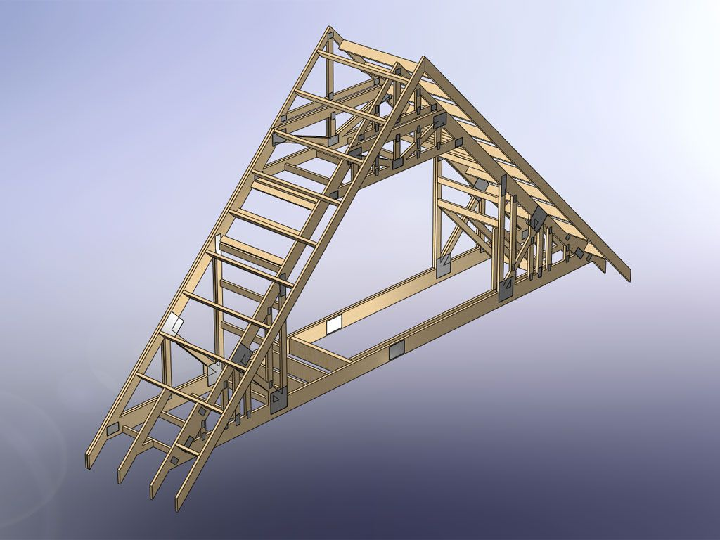 How Do You Frame Stairs With Attic Trusses Attic Truss Roof Trusses Roof Truss Design