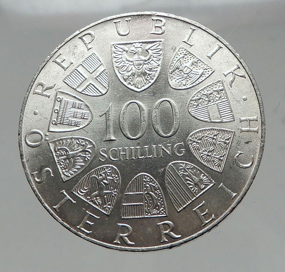 1976 Austria Innsbruck Winter Olympic Games 100 Schilling Silver